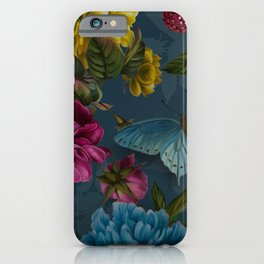 Teal Rose Garden J. Loomer Home Collection by artist Juliana Loomer iPhone Case
