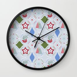 Christmas pattern. Wall Clock