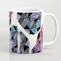 diamond Mugs featuring Diamond by Hamburger Hands