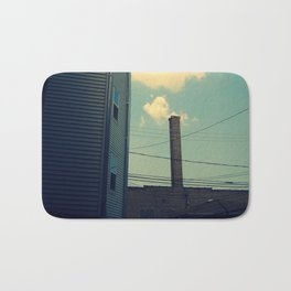 Chicago Clouds and Smokestack Bath Mat