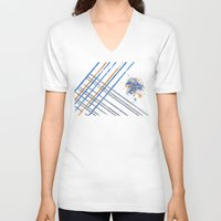 grid V-neck T-shirts featuring Grid by Last Call