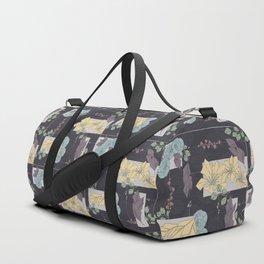 Flower Fracas Puple Duffle Bag