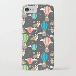 Corgis in Hot Air Balloons - cute dog design iPhone Case