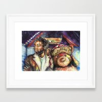 childish gambino Framed Art Prints featuring Childish Gambino by Freelance Doe