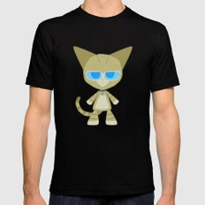 Clarence Cat Black SMALL Mens Fitted Tee