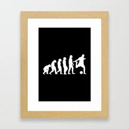 Football Evolution Framed Art Print