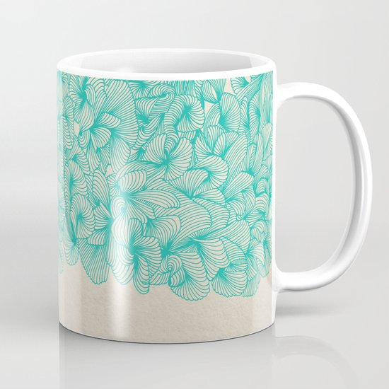 Abstract Pattern – Turquoise Mug