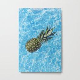 Pineapple In The Water Metal Print