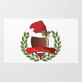 Football Christmas Design Rug