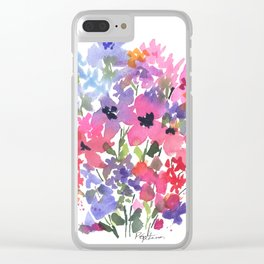 Lovely Little Fleurs Clear iPhone Case
