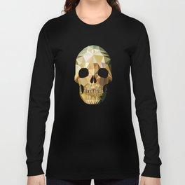 Low Poly Skull Long Sleeve T-shirt