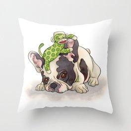 Pouting Bubba Throw Pillow