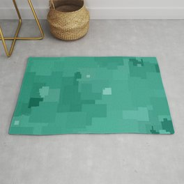 Lucite Green Square Pixel Color Accent Rug