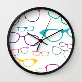 Glasses for All Wall Clock