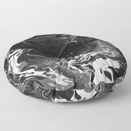 // MARBLED BLACK // Floor Pillow