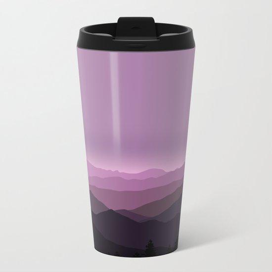 Purple mountains Metal Travel Mug