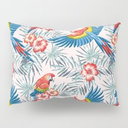 Macaw parrots in the jungle Pillow Sham