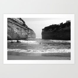 Between The Rock and The Hard Place Art Print