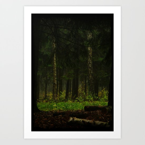 The grass was greener Art Print