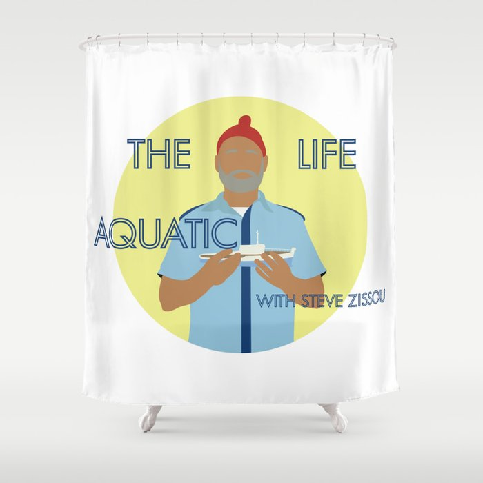 The Life Aquatic With Steve Zissou Shower Curtain By Katebagshaw