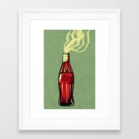 yetiland Framed Art Prints featuring Genie out the bottle by Yetiland