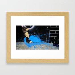 Ninja Blast Framed Art Print