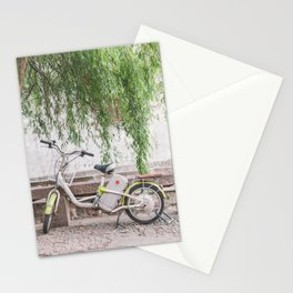 Bike Under the Willows - Suzhou China Stationery Cards