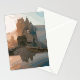 Castle In The Mist (Painting) Stationery Cards