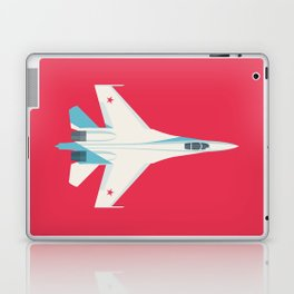 Su-27 Flanker Fighter Jet Aircraft - Crimson Laptop & iPad Skin