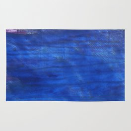 Denim Blue abstract watercolor background Rug