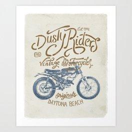 Dusty Riders Vintage Motorcycles Art Print