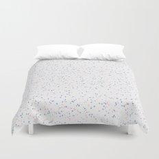 Speckles I: Rose Quartz & Serenity on Snow Duvet Cover
