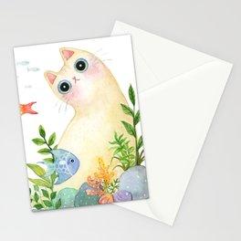 The Aquarium Cat Stationery Cards