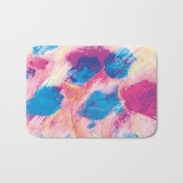 Colours of summer 1 -Abstract pattern Bath Mat