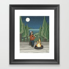 Campfire Girl II Framed Art Print