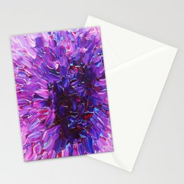 LOTUS BLOSSUM - Beautiful Purple Floral Abstract, Modern Decor in Eggplant Plum Lavender Lilac Stationery Cards
