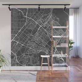 Irvine Map, USA - Gray Wall Mural