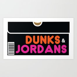Dunks & Jordans Art Print