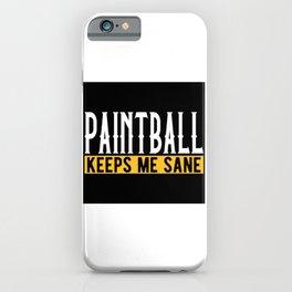 Paintball Lovers Gift Idea Design Motif iPhone Case