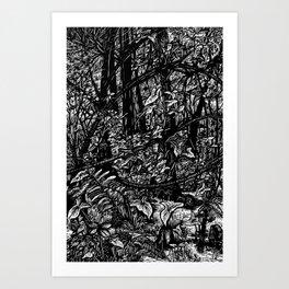 Swamp Crossing Art Print