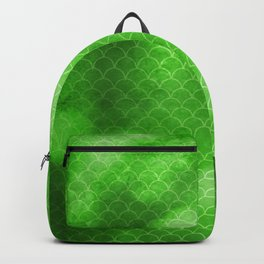 Green Flash small scallops pattern with texture Backpack