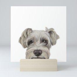 Rescue Dog series, Schnauzer mix, Kole by miart Mini Art Print