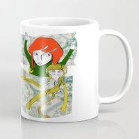 tina Mugs featuring Tina&Ape by eva vasari