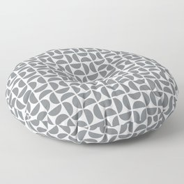 HALF-CIRCLES, GREY Floor Pillow