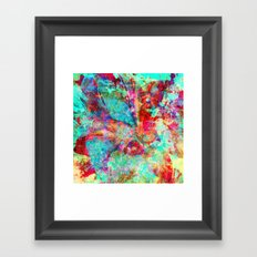 abstract orchid Framed Art Print