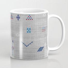 Cactus Silk Pattern in Grey Coffee Mug