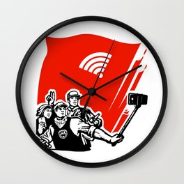 selfie youth of today Wall Clock