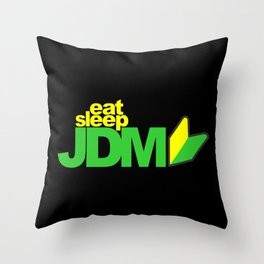 Eat Sleep JDM Throw Pillow