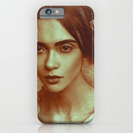 old lady draw iPhone Case