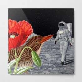 Bird on the moon Metal Print